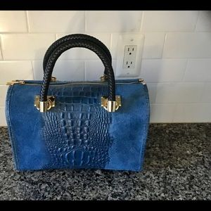 New genuine leather and suede purse